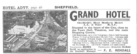 The Grand Hotel Advertisement